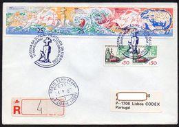 Portugal  1988  MiNr. 1727/ 1728, 1745/ 1746 Aus MH.4  Auf R- Brief / Letter Von LISBOA  ; Bartolomeu Diaz   I. , II. - 1910-... République