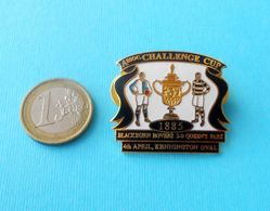 Blackburn Rovers FC V Queen's Park - 1885 Challenge Cup Larger Enamel Pin Badge Soccer Futbol Fussball Calcio England - Fussball