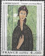 FRANCE 1980 French Art - 4f Woman With Blue Eyes (Modigliani) FU - France