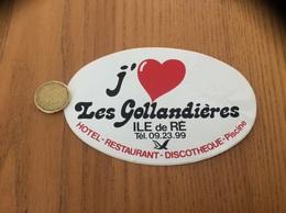 AUTOCOLLANT, Sticker «j'aime Les Gollandières - HOTEL RESTAURANT DISCOTHÈQUE - ILE De RÉ (17)» - Adesivi