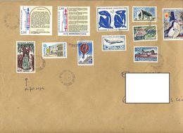 Lettre  Recommandée Belfort Sur Matisse Droit Homme Chagall Etc - Marcophilie (Lettres)