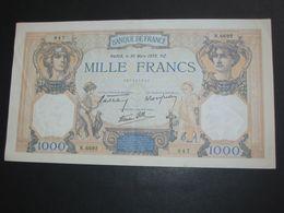 MAGNIFIQUE ET PRESQUE NEUF -----1000 Mille Francs - Cérès Et Mercure - 30 Mars  1939  **** EN ACHAT IMMEDIAT **** - 1871-1952 Antichi Franchi Circolanti Nel XX Secolo