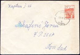 YUGOSLAVIA - JUGOSLAVIJA - ELEKTRO KABEL FABRIK - Mi U 45 With Dark Gray Paper Inside. - 1961 - Postal Stationery