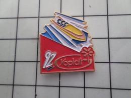 316c Pin's Pins / Beau Et Rare / THEME : JEUX OLYMPIQUES / ALBERTVILLE 1992 BOBSLEIGH A 3 Par FB - Juegos Olímpicos