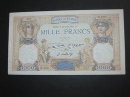MAGNIFIQUE ET PRESQUE NEUF -----1000 Mille Francs - Cérès Et Mercure - 25 Aout 1932   **** EN ACHAT IMMEDIAT **** - 1871-1952 Antichi Franchi Circolanti Nel XX Secolo