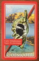 CORSE CORSICA CORSICOM 65U CARD CARTE PRÉPAYÉE PRÉPAID PHONECARD - Frankreich