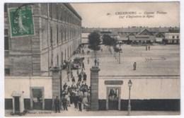 Cherbourg - Caserne Proteau (25e D'Infanterie De Ligne) 1912 ( Avec Verso ) - Cherbourg