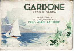 Lombardie - GARDONE - 6 Cartes Postales De Gardone - Aquarelles De Aldo Raimondi (dans Pochette) - Other Cities