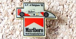Pin's HONDA Formule 1 - MC LAREN MARLBORO 1992 Grand Prix De Belgique- époxy - Fabricant Inconnu - Honda
