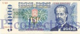 CZECH REPUBLIC 1000 KORUN 1993 PICK 3b UNC - Repubblica Ceca