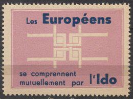IDO Esperanto Language Propaganda - EUROPE EUROPA - MNH - Cinderella / Label / Vignette - Esperanto