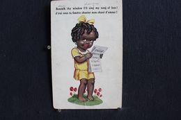 JA - 307 - Enfant - J'irai Sous Ta Fenêtre Chanter Mon Chant D'amour ! Beneath Thy Window I'll Sing... - Circulé 1920 - Tarjetas Humorísticas