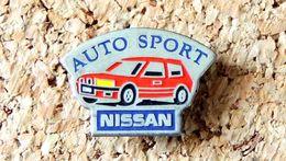 Pin's NISSAN - AUTO SPORT - Peint - Fabricant Inconnu - Pin's & Anstecknadeln