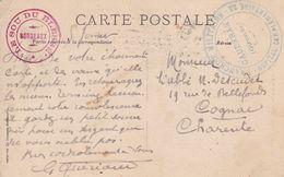 Croix Rouge Cachet Hôpital Complémentaire N°22  Cauderan Gironde  1915 - Marcophilie (Lettres)