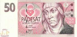 CZECH REPUBLIC 50 KORUN 1993 PICK 4a UNC - Repubblica Ceca