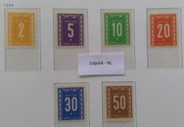 1949 Israel Portzegels Mi.nr. 6-11 Postfris - Impuestos