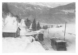 Funiculaire Sierre - Montana Vermala SMV - S.M.V. -  A Bluche Devant L'ancienne Halte . - Train - Chemin De Fer - VS Valais