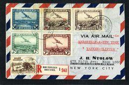 17/6/1939 Recommandé De Bruxelles Par Avion Yankee-Clipper De Marseille à NewYork - Airmail