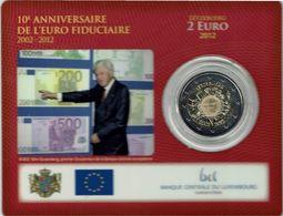 2 € Coincard 2012 Luxembourg 10 Anniversaire - Luxemburgo