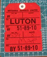 Regno Unito Ticket Britannia Airwais - Luton Airport - Europa