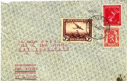 17/4/1940 De Bruxelles Par Avion  à NewYork, Affr 6,25F - Airmail