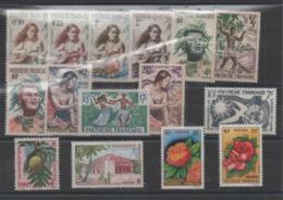 Polynesie Francaise : Timbres Neuf Année 1958 à 1962 N° 1 à 11 (manque N° 7) 12 ,13 ,14 ,15 ,16 Cote :103,30 € - Neufs