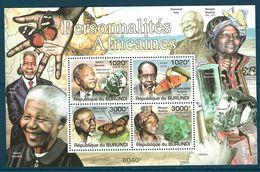 Burundi - 2011 Minerals, Personnalites Africanes MNH** - Lot. A357 - Minerali