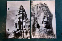 Angkor Vat N° 597 L EBayon (cliché Cauchetier) Et 462 La Tour Ouest (2 Trous)ed .Hoa-qui - Cambodia
