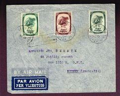 13/1/1939, COB 491, 494, 495 Sur Lettre De Verviers Vers Sidney Australie Par Avion, Trouvé à La Boîte - Belgium