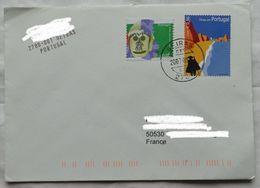 Lettre  Portugal 2007 Timbre  0,56 € + 0,05 € Pour La France - 1910-... République