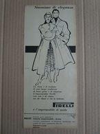 - ADVERTISING PUBBLICITA' IMPERMEABILI PIRELLI - 1954 -  OTTIMO - Unclassified