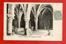"""C.P.A.  ( 77 )  """" PROVINS """" Intérieur De La Grange Aux Dimes   (voir Les 2 Scans) - Provins"""