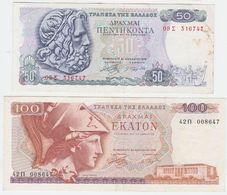 Greece SET - 50 & 100 Drachmai 1.12.1978 - VF - Grèce