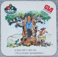Sous-bock DE KONINCK GVA Gazet Van Antwerpen Anvers (arbre, Taupe, écureuil) Bierdeckel Bierviltje Coaster (CX) - Portavasos