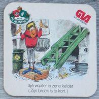 Sous-bock DE KONINCK GVA Gazet Van Antwerpen Anvers (cave, Souris) Bierdeckel Bierviltje Coaster (CX) - Portavasos