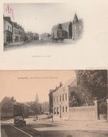 2 CPA:LE NOUVION (02) VOITURE RUE THÉODORE BLOT MONUMENT,ATTELAGE PLACE - Autres Communes
