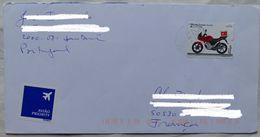 Lettre  Portugal 2009   Timbre 0,70 Moto   Pour La France - 1910-... République