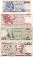 Greece SET - 50 100 500 1000 Drachmai 1978 1987 - Fine - Griechenland