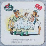 Sous-bock DE KONINCK GVA Gazet Van Antwerpen Anvers (hôpital, Médecin, Infirmière) Bierdeckel Bierviltje Coaster (CX) - Portavasos