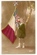 FANTAISIE - Enfant Patriotique, Drapeau Français, Fleurs. - Portraits