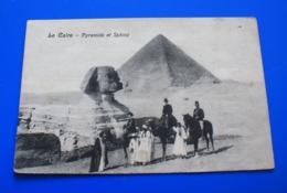 Afrique Egypte  Pyramides Et Sphinx --CPA-Carte Postale Égypt. - Sphinx