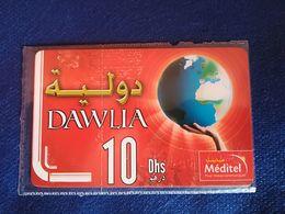 17 Maroc Marokko Morocco Recharge  Prépayée Méditel Dawlia Neuve - Maroc