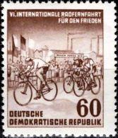 DDR 1953 Mi. Nr. 357 Internationale Radfernfahrt Prag- Berlin - Warschau Postfrisch (0304).jpg - DDR