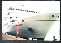 """Bateau  Paquebot Russe SHIP (Russian Ocean Liner)  Photographie """" ПДЛЬМИД """" - Picture LE HAVRE Port 2003 - Bateaux"""