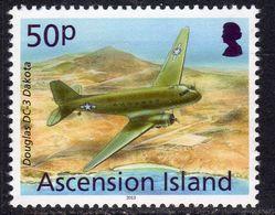 Ascension 2013 Aircaft Definitives 50p DC-3 Dakota, MNH, SG 1156 (B) - Ascension (Ile De L')