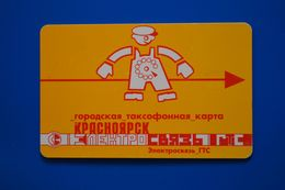 Krasnoyarsk. Red Man. Yellow Card. 25 Un. 7 Digits. - Russie