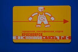 Krasnoyarsk. Red Man. Yellow Card. 25 Un. 10 Digits. - Russie