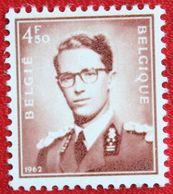 4.50Fr Koning Boudewijn Normal Paper OBC 1068A (Mi 1298x) 1962 POSTFRIS MNH ** BELGIE BELGIUM - Belgium