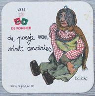 Sous-bock DE KONINCK De Poesje Van Sint Andries Belleke (marionnette) Bierdeckel Bierviltje Coaster (CX) - Portavasos