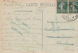 1918- Non Admis Par Autorité Militaire-----Retour à L'expéditeur.  Scan - Cachets Généralité